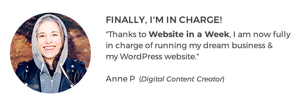 Website in Week with WordPress| AnitaM