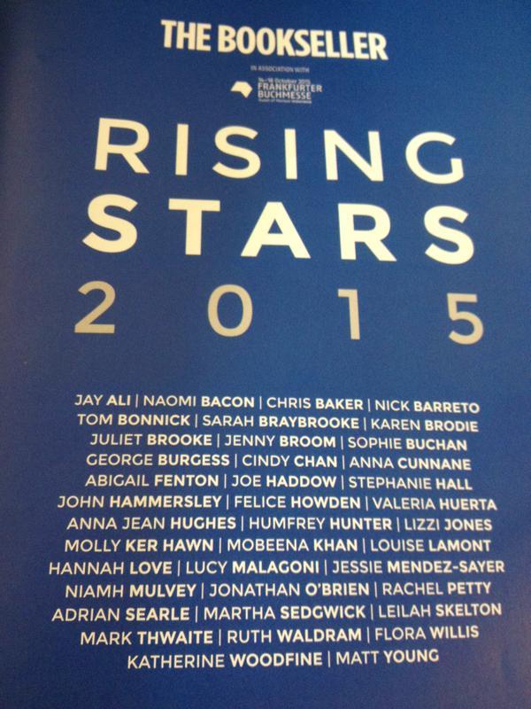 Bookseller Rising Stars 2015 image of full list