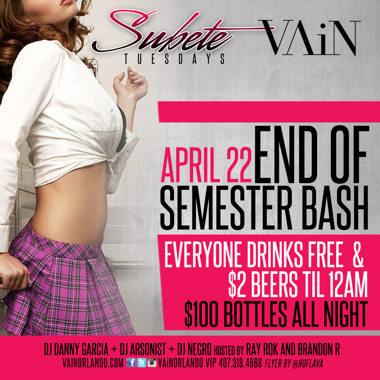 End of Semester Bash | Subete Tuesdays