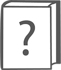 icon of book with question mark on the cover