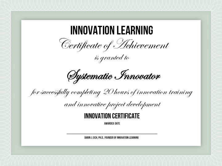 Innovation Certification Innovation Learning Online Courses