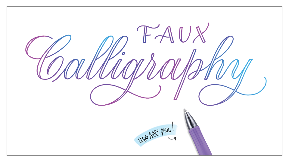 Faux Real Calligraphy Loveleigh Loops Teachable School