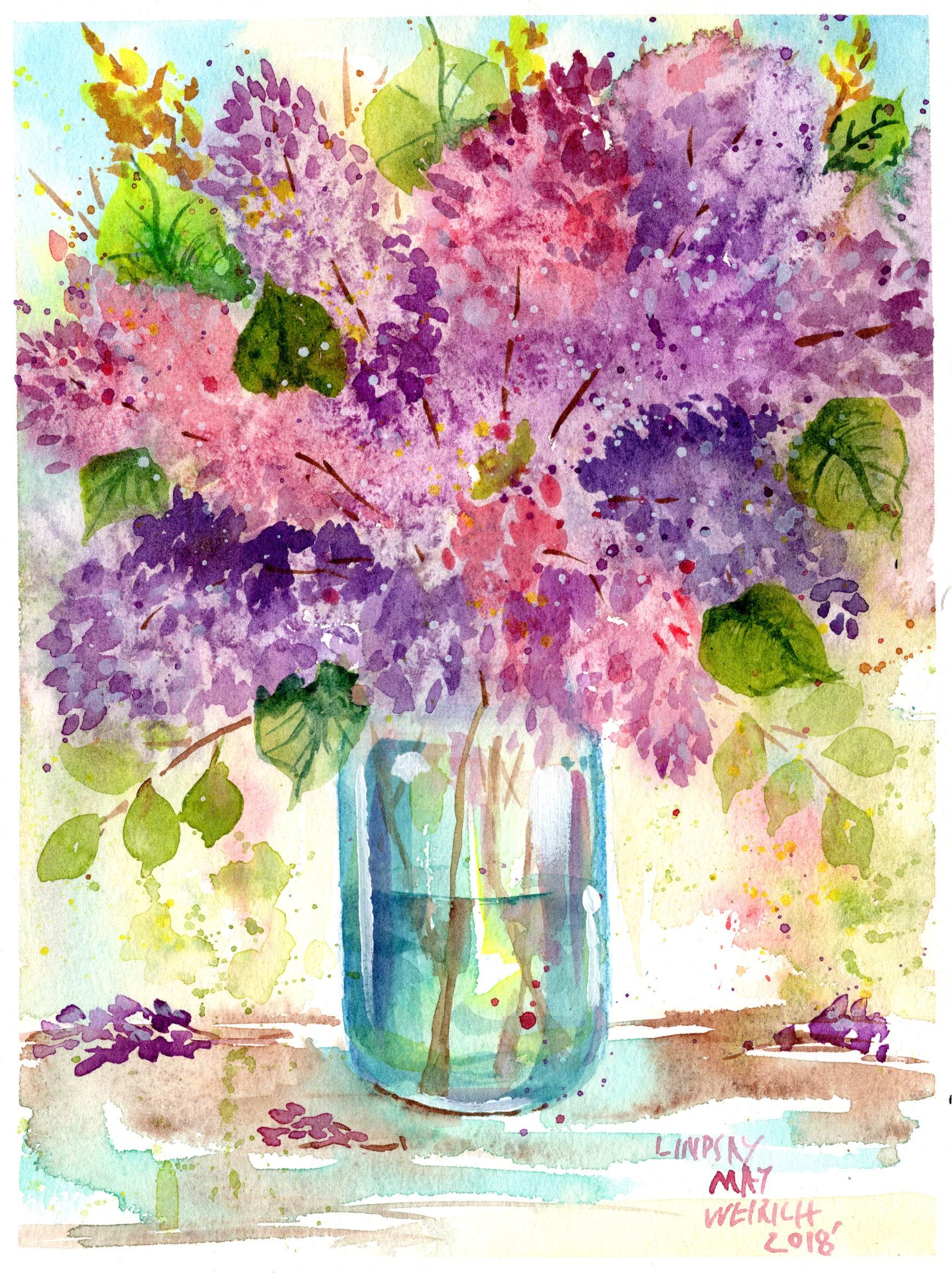 Loose Juicy Watercolor Florals Lindsayweirich