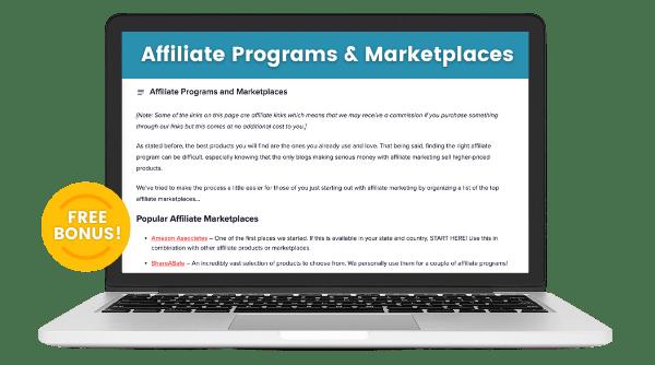 affiliate programs bonus