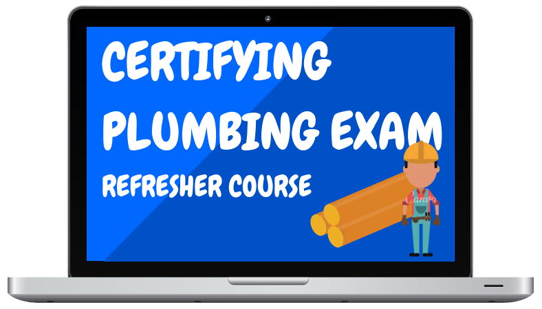Certifying Plumbing Exam Refresher Course - Lap Top Graphic