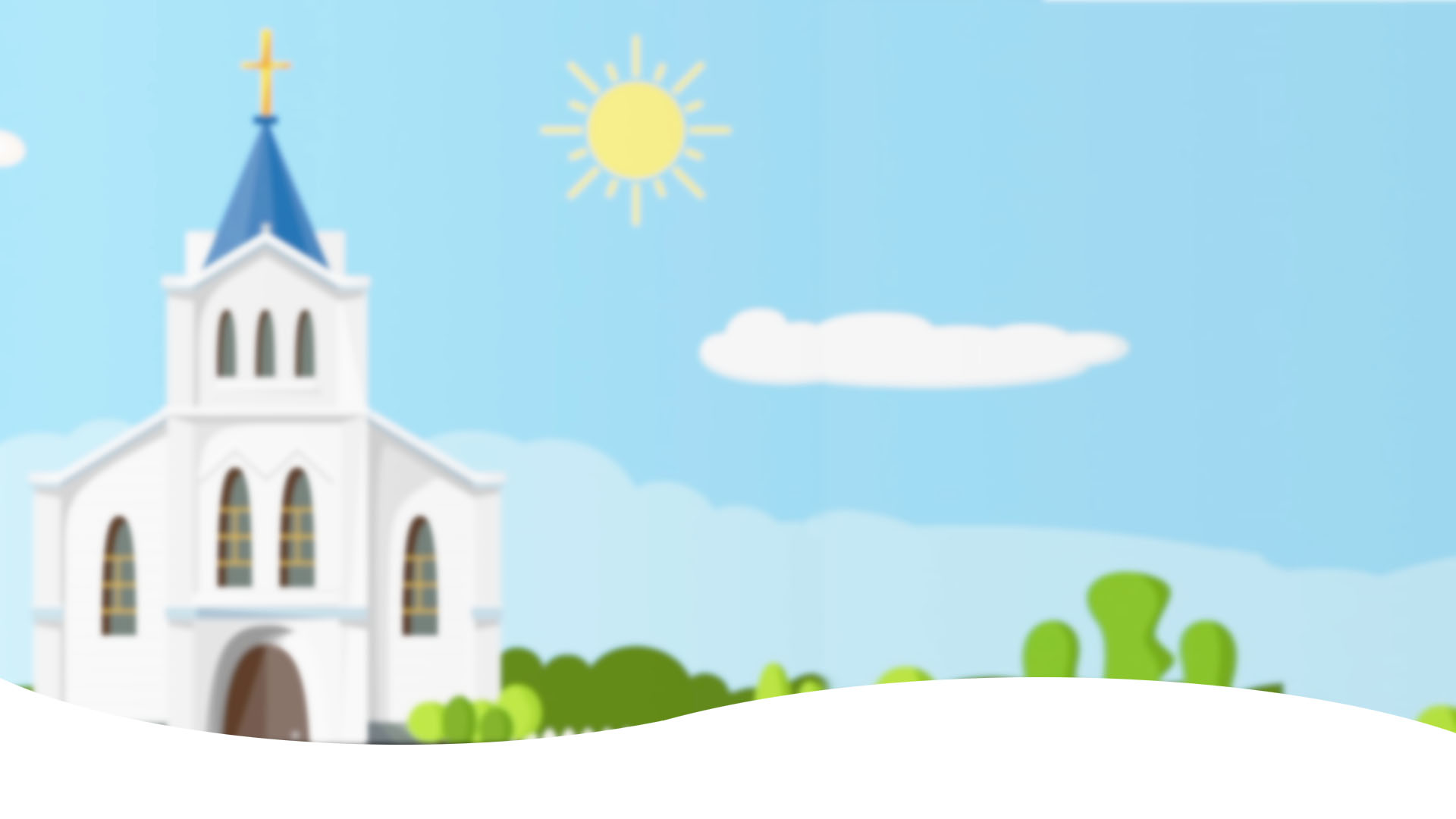 blurred church background