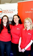 Made in the Midlands' strong female team: (l-r) Sophie Whittingham, Sharon Mason and Charlotte Crowshaw