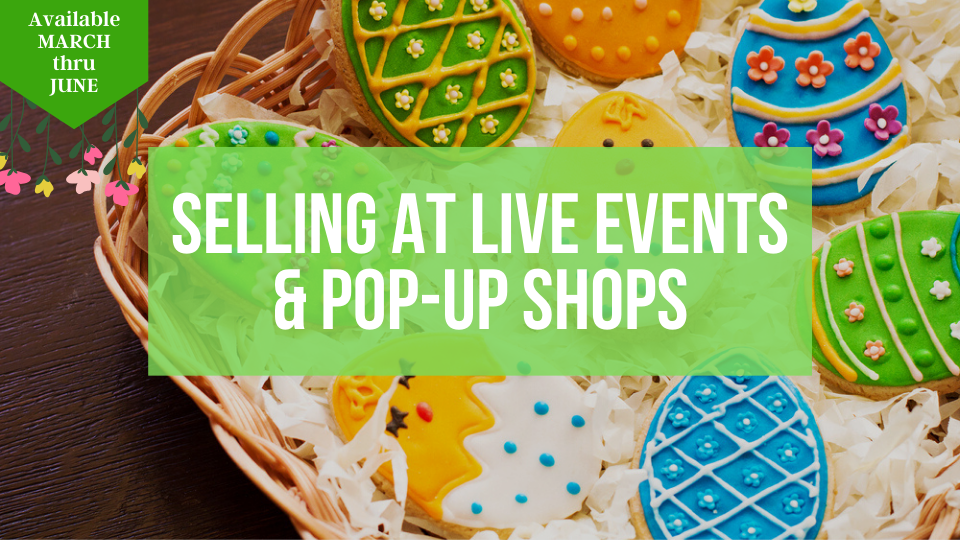 Learn how to sell successfully at Live events, festivals and pop-up shops from the Sugar Coin Academy, Business Trainings for Bakers and Sweet Makers.