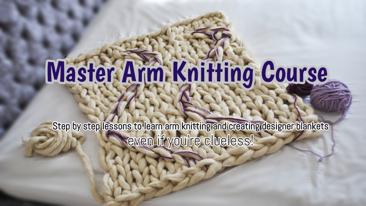 arm knitting blankets
