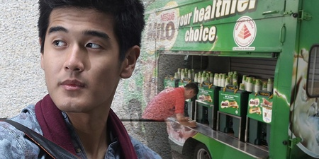 There's really a Milo party in town for Nathan Hartono