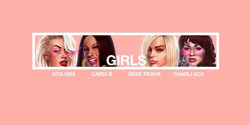 Resultado de imagen para Rita Ora, Cardi B, Charli XCX & Bebe Rexha