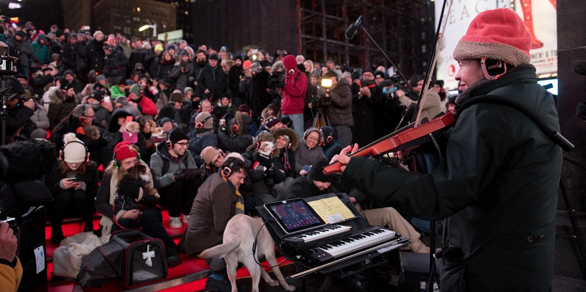 Laurie Anderson played a concert for dogs