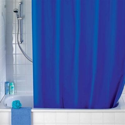 Dusjforheng, solid blå 180x200cm