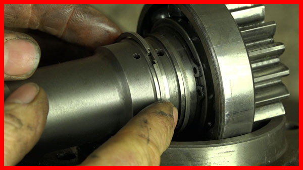 replacing multi-power snap ring shaft seals