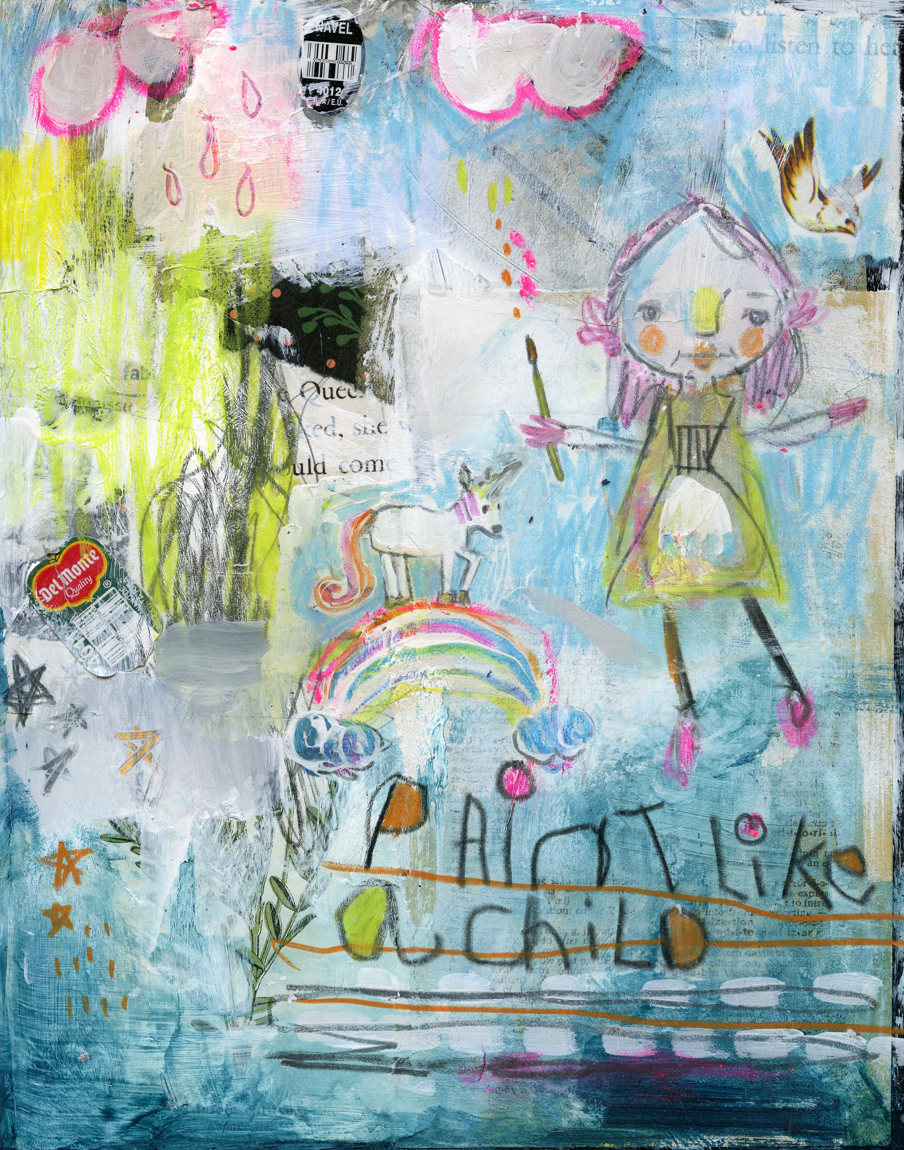 Mindy Lacefield: Paint Like a Child journaling online class!!