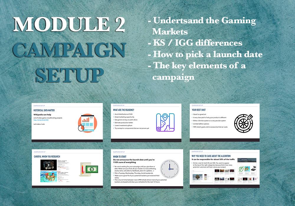 Crowdfunding campaign setup