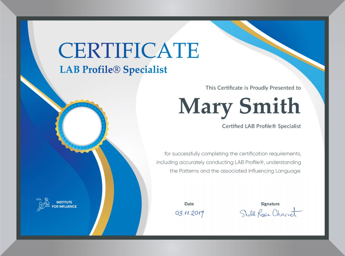 Advanced Business Influence Certification