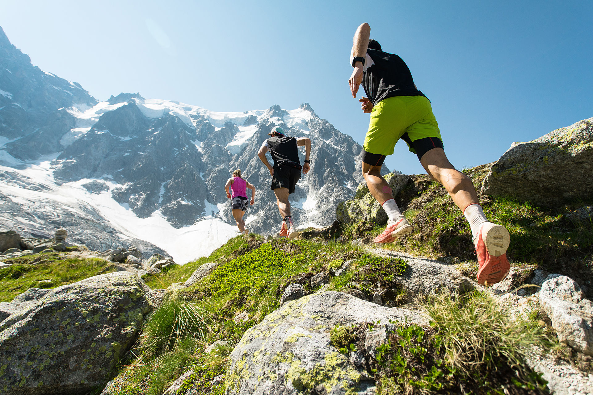 Ultra marathon runners in the mountains