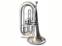King Model 1124 Marching Baritone Silver Plated with mouthpiece
