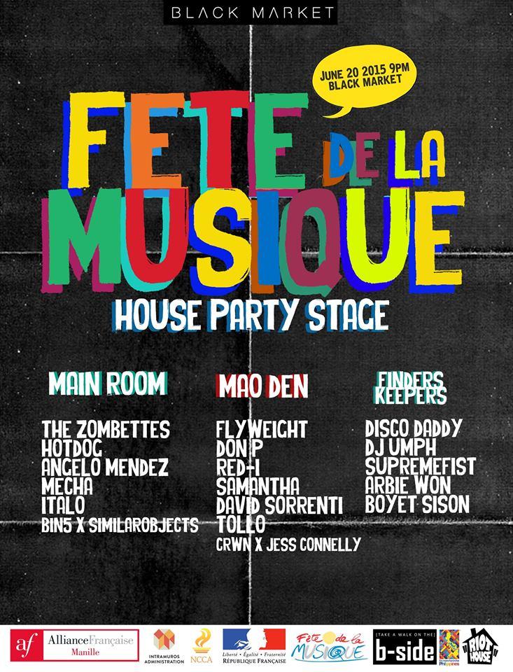 FETE DE LA MUSIQUE: House Party Stage