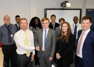 Made in the Midlands members pictured with students of the Black Country UTC