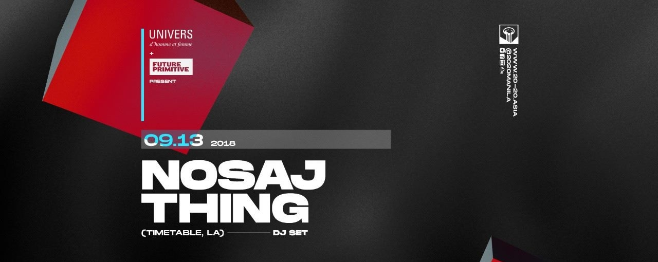 UNIVERS presents New Visions feat. Nosaj Thing (Timetable, LA)