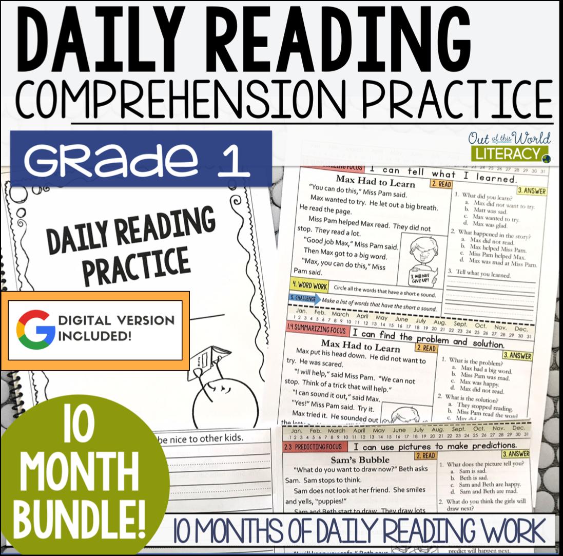 - Daily Reading Morning Work: Grade 1 GROWING Bundle Jen Bengel