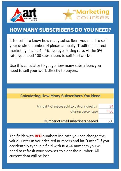 How many subscribers do you need?