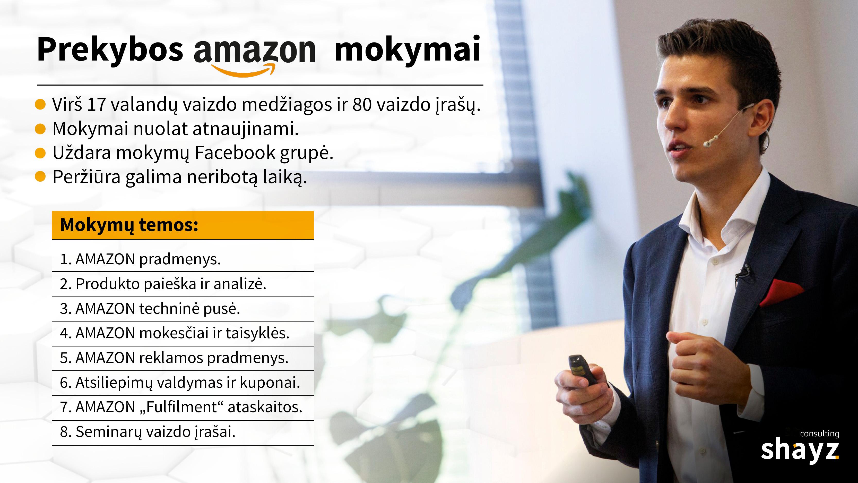 Prekybos Amazon mokymai - Amazon FBA ttechniniai pagrindai