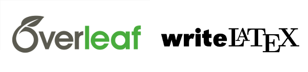 Overleaf writeLaTeX logos