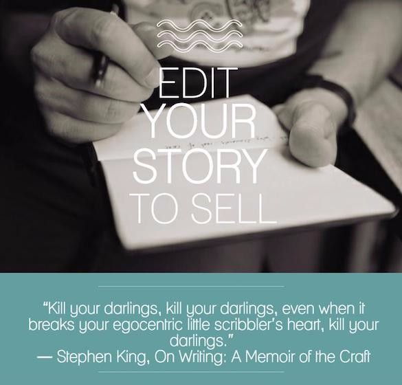 Edit your story to sell with a quote from Stephen King