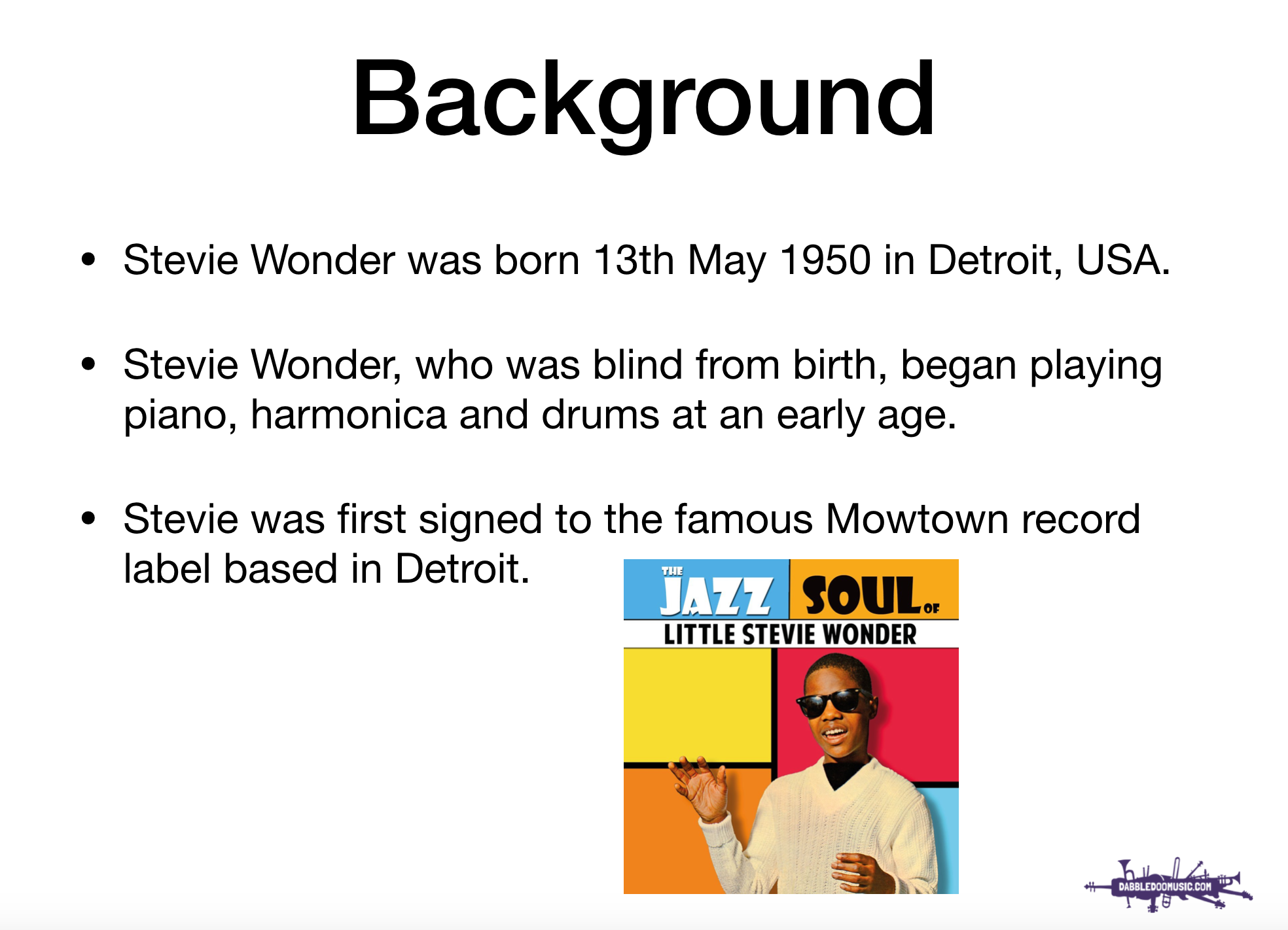 Stevie Wonder Artist Profile