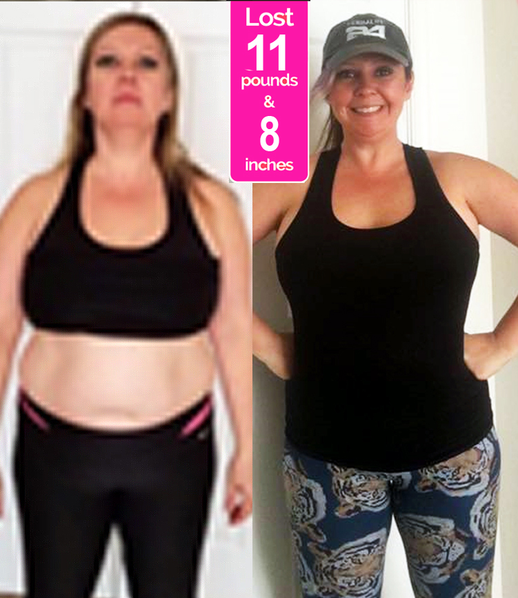 Kelli Before & After Pics - Janis Saffell 4 Week Fat Blaster