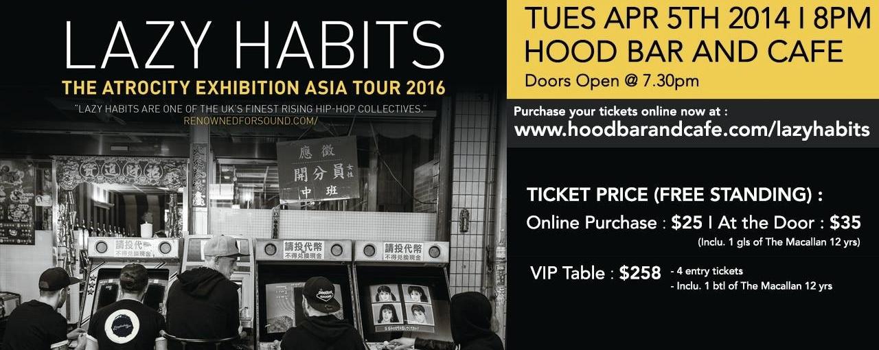 Lazy Habits Live at Hood Bar & Cafe 2016!