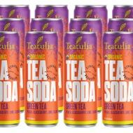 Green Tea Soda (Peach, Blackberry, Lime, Cilantro) from Teatulia Teas