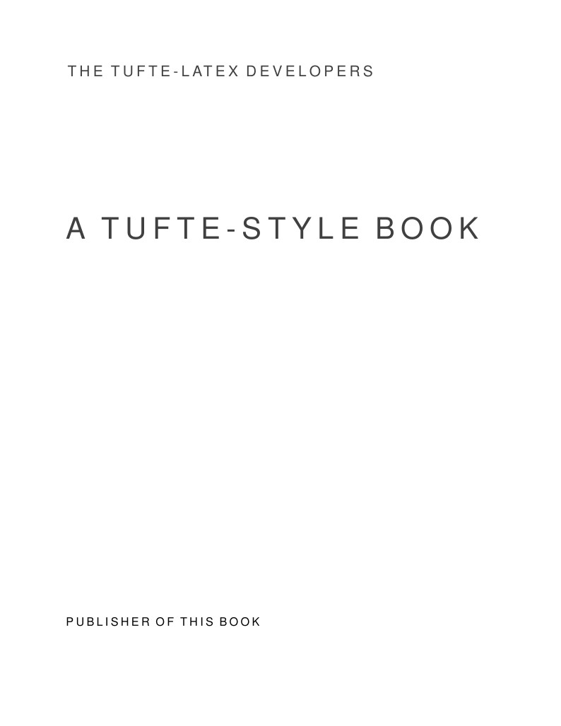Latex Software Doentation Template | Book Design Inspired By Edward Tufte Latex Template On Overleaf