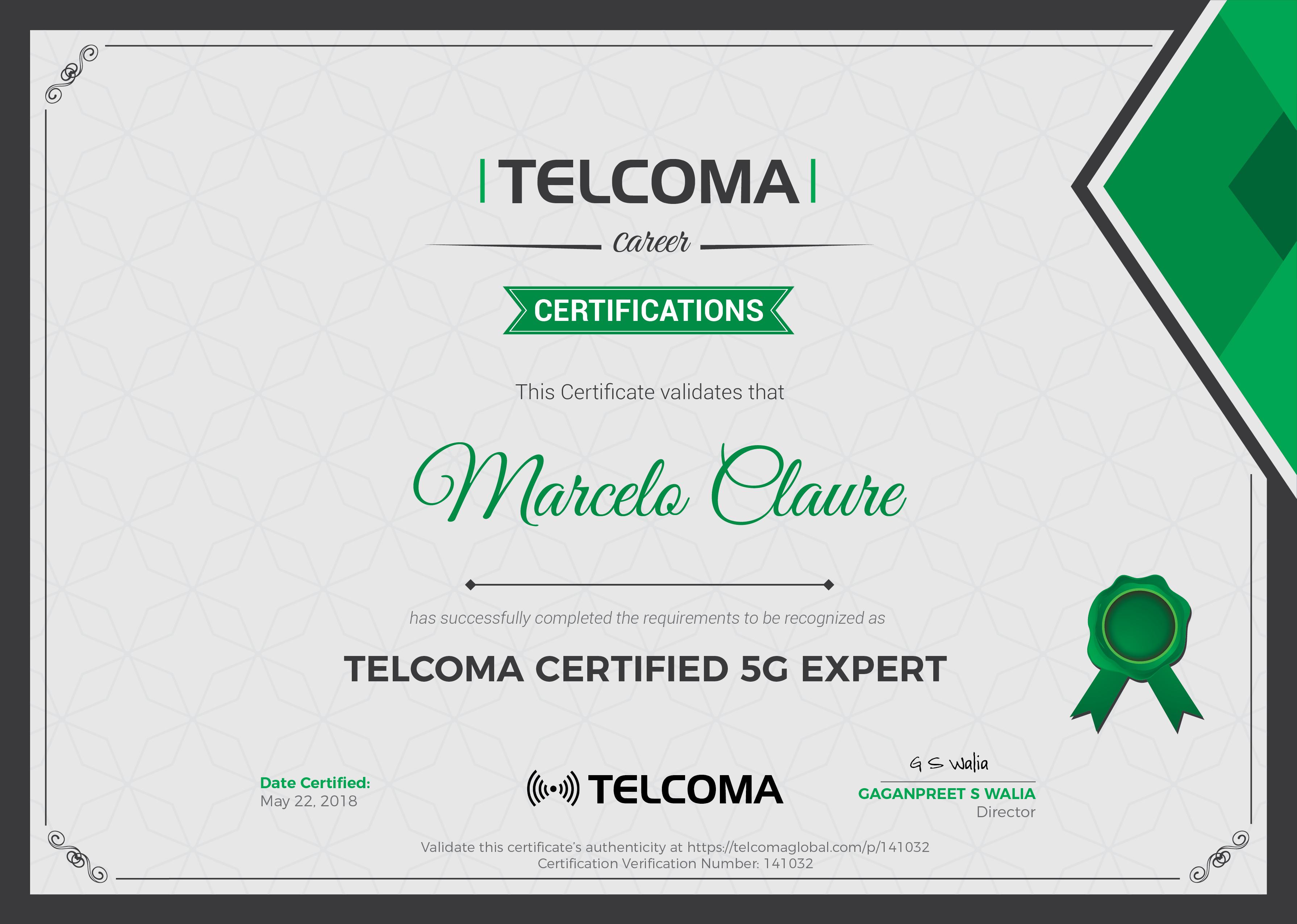 5G Certificate