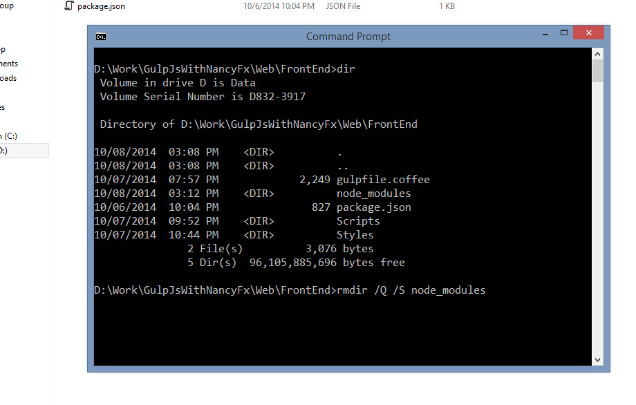 Trying the Command prompt - step 1
