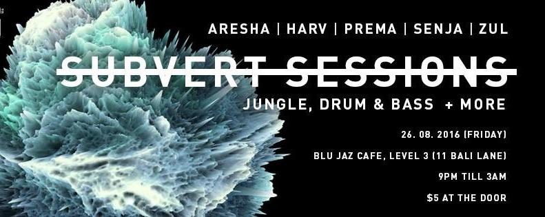 Subvert Sessions at Blu Jaz Cafe