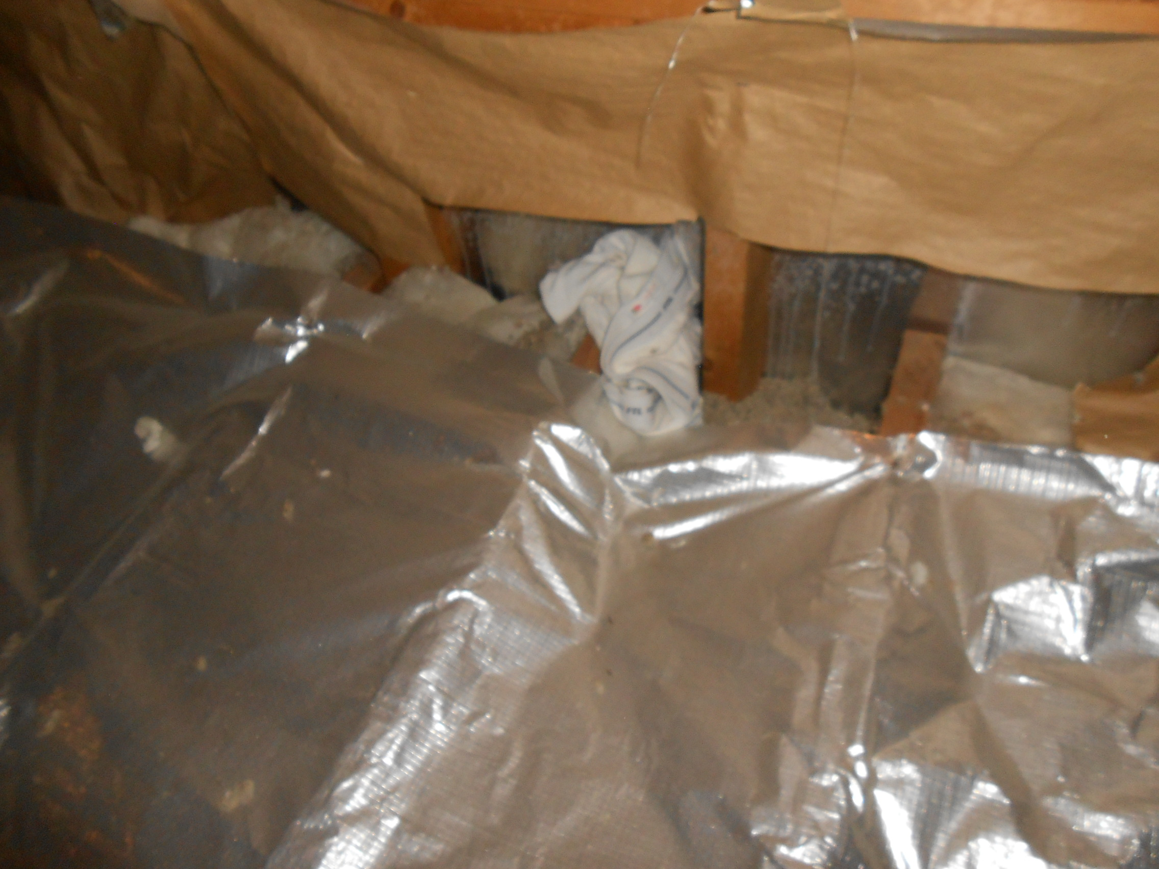 Insulation viewed during a home inspection of the attic