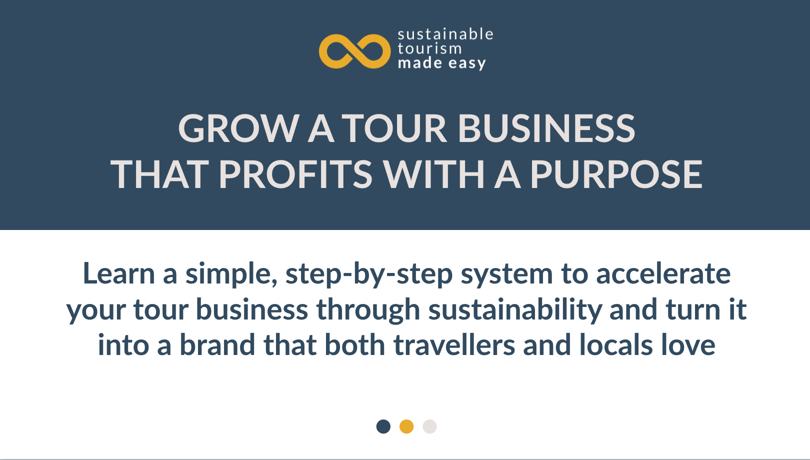 Grow a tour business that profits with a purpose