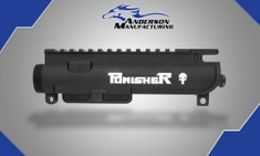 Anderson AM-15 ASSEMBLED UPPER RECEIVER – PUNISHER ENGRAVED