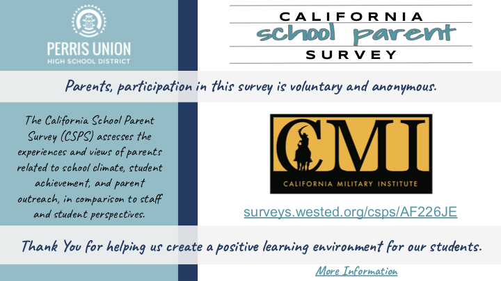 CMI Healthy Kids Parent Survey