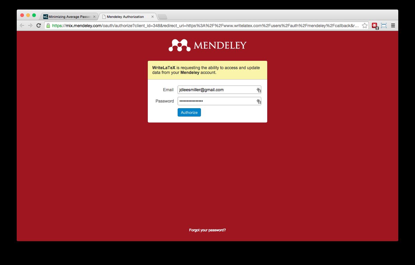 Overleaf Writelatex Mendeley reference bibliography import screenshot 4