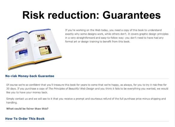 Conversion rate optimisation RISK REDUCTION