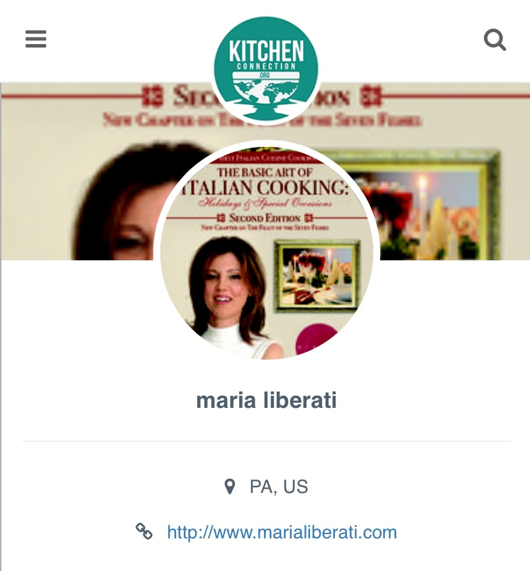 Kitchen Connection Posts: Featured Cheffie: Maria From Italy