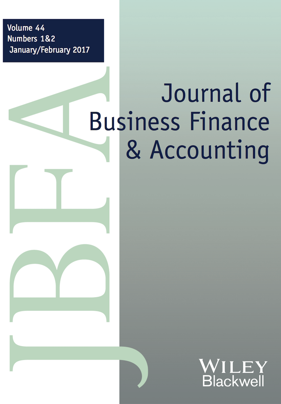 Template for submissions to Journal of Business Finance & Accounting