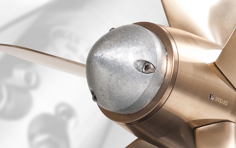 Protect your Max-Prop with a zinc anode.