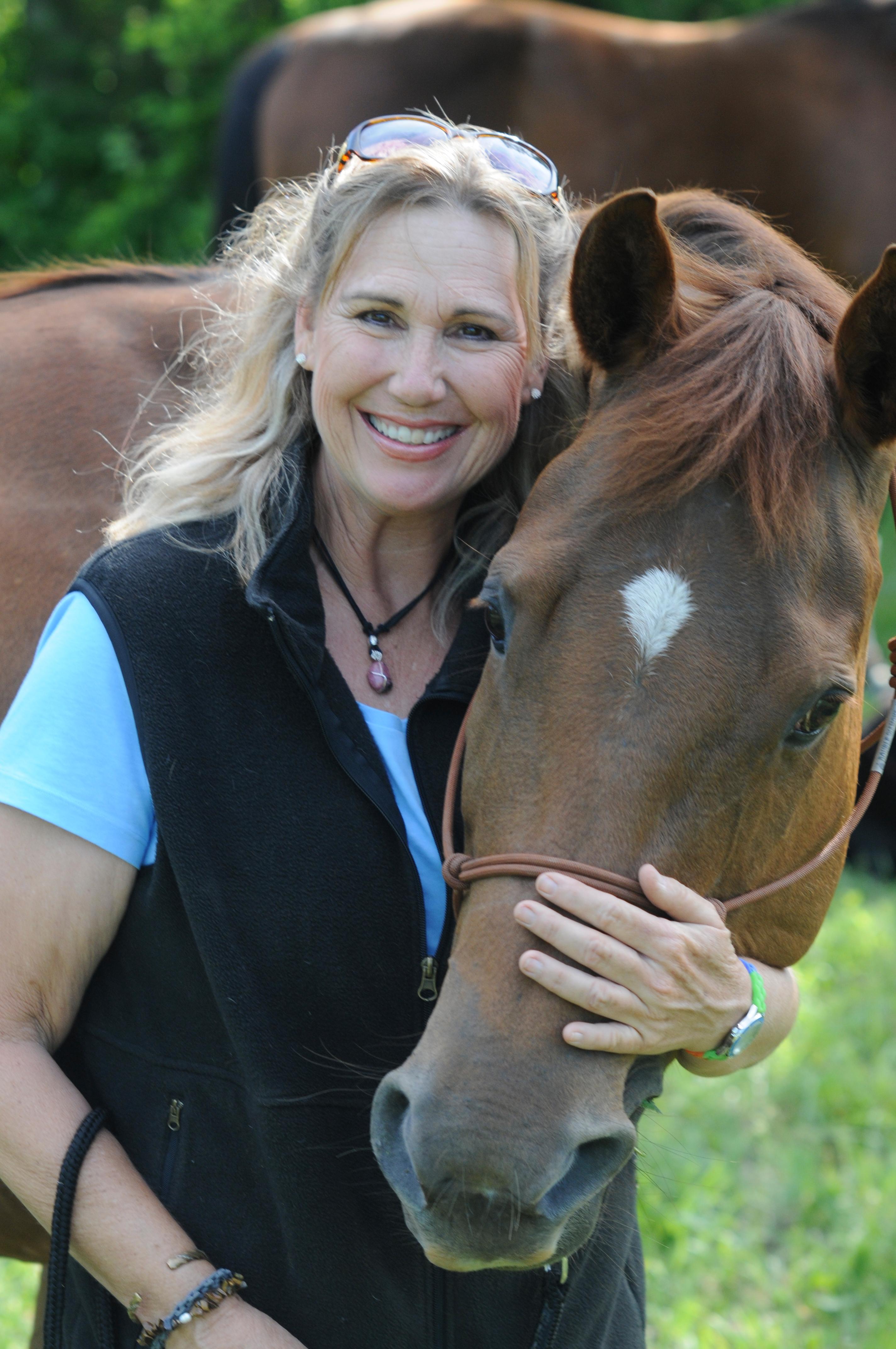Karen, Creator and Founder of Motivational Horsemanship with her incredible teacher, Sage!