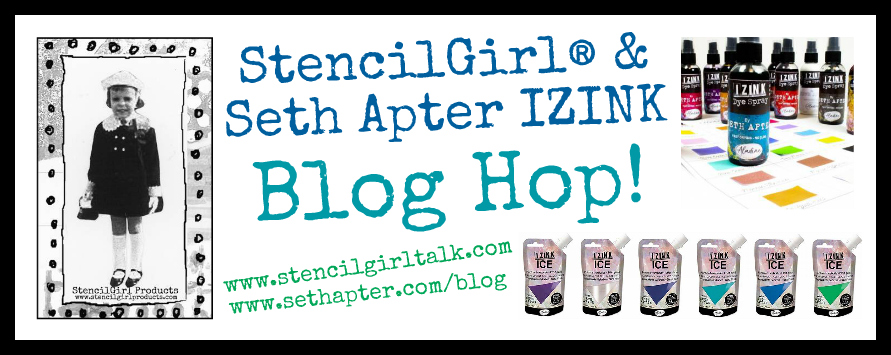 Seth Apter and Stencil Girl Blog Hop